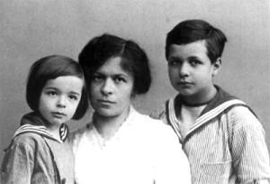 Mileva Marik et ses fils