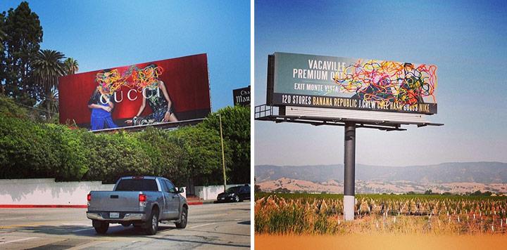 Un exemple de la campagne de street art entourant la sortie de Mess