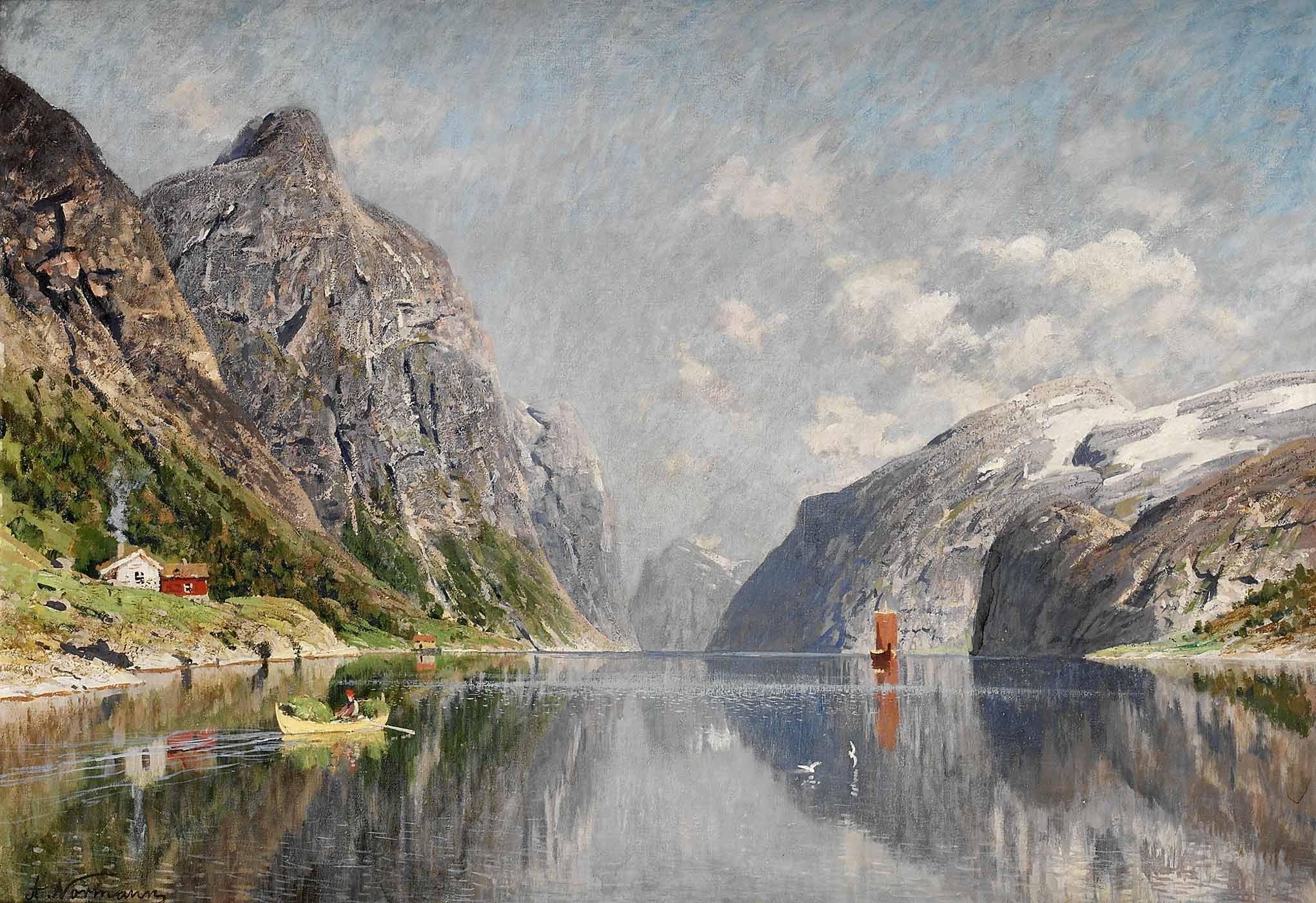 """Adelsteen Normann - """"Norsk fjordlandskap"""""""